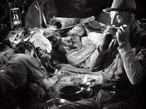 Harmonica and movies -  a scene from the tresaure of sierra madre