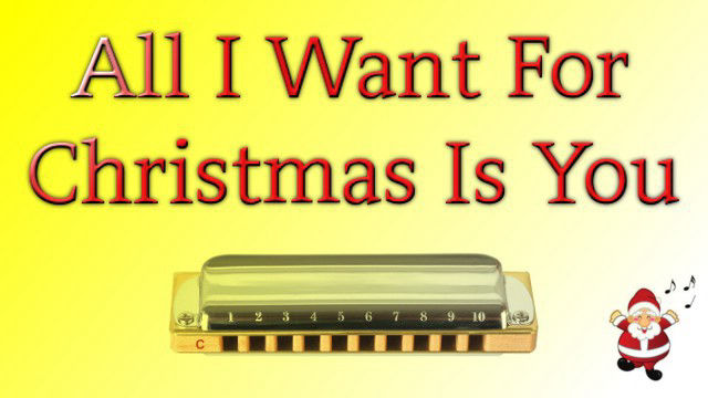 All I Want For Christmas Is You on harmonica logo