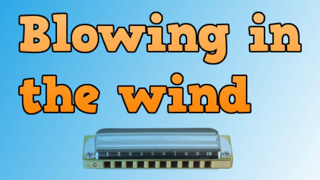Blowing in the wind on harmonica logo