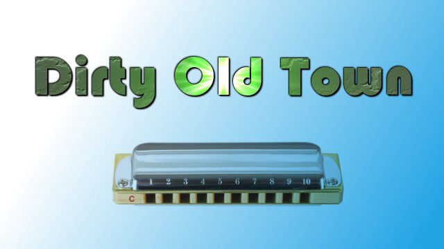 Dirty Old Town on harmonica logo