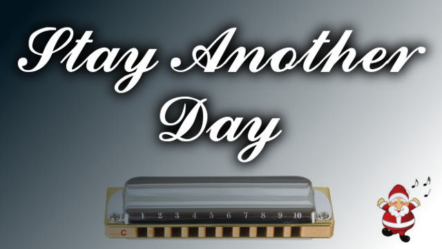 Stay Another Day on harmonica logo