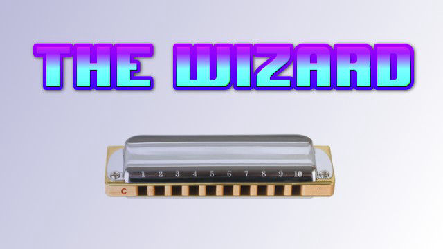 The Wizard on harmonica logo