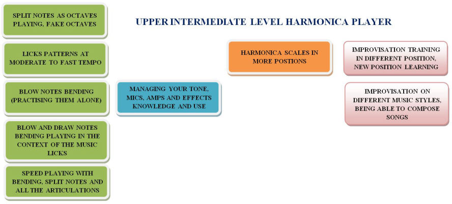Upper-intermediate level harmonica player skills