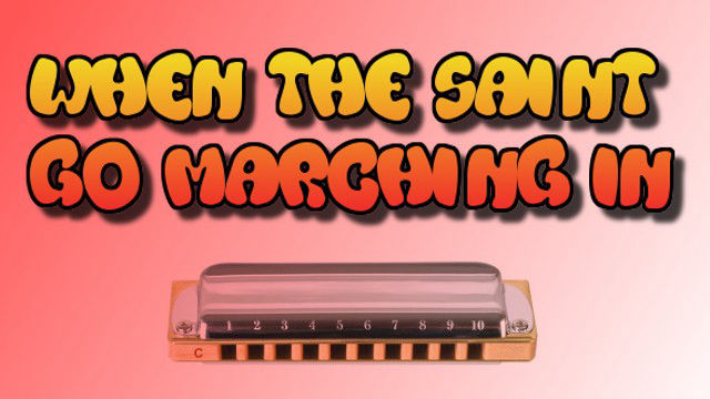 When The Saints Go Marching In on harmonica logo